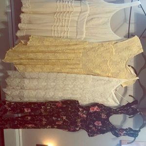 4 dress outfit lot